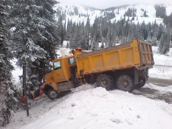 Snowplough MIshap