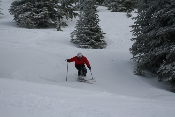 close stance in powder