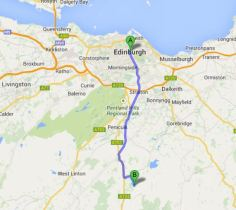 Edinburgh to Portmore Loch 17.2Miles