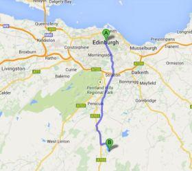 Edinburgh to Portmore Loch 17.2Miles