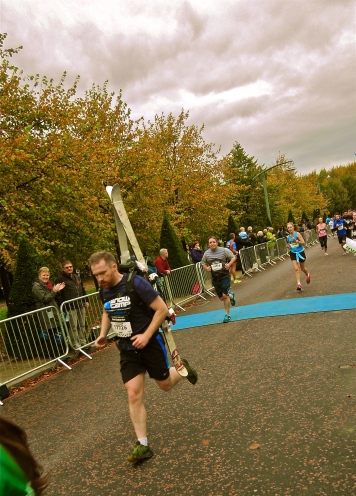 Sprinting for the finish- Glasgow Green